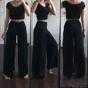 Cache black flowy high waisted palazzo pants